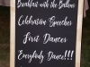 Wedding Sign Chalkboard
